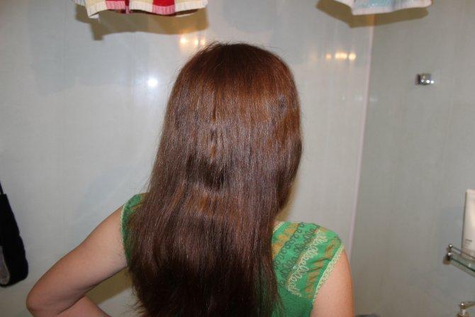 Краска для волос капус 7.81 фото на волосах