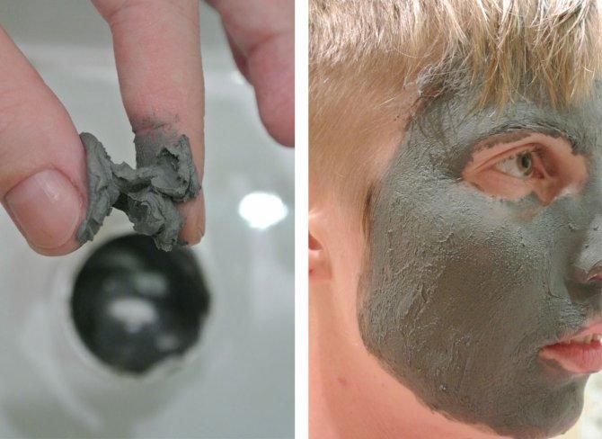 Маска для лица с яичным белком от черных точек салфетка