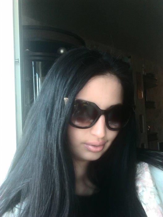 Чёрно-синий цвет волос