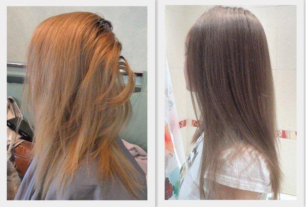 Русый цвет волос тонирование